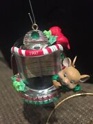 Carlton Christmas Ornament Holiday Hits Mouse With Tabletop Jukebox New