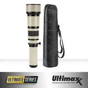 Super Zoom 650-1300mm F/8 High Definition Manual Lens With Protective Case