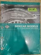 Genuine Harley Davidson And03907-and03910 Sidecar Model Parts Catalog P/n 99604-10