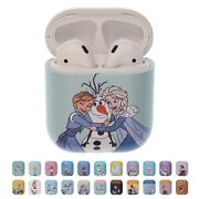 Disney Frozen For Airpods Case Protective Hard Pc Shell Front Led Visible Cover