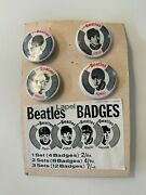 B26833 – The Beatles 1960s Pin Badges Set Rare Red Edition