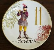 New Williams Sonoma 12 Days Of Christmas 2012 On The Eleventh 11 Day Salad Plate