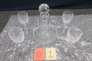 Waterford Crystal Ships Decanter Lismore Cordial Wine Glass Set