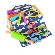 Daju Kids Apron And Cooking Set - Whales Apron, Cookie Cutter, Mini Rolling P...