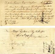Pay Order Signed By Benjamin Huntington And Geo. Pitkin