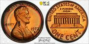 1972-s Lincoln Cent Pcgs Pr64rb Proof Rainbow Neon Target Toned Monster Unc Dr