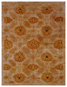 8x10 One-of-a-kind Hand Knotted Area Rug Transitional Design Wool