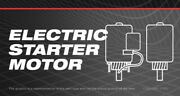 Electric Starter Motor For Craftsman 10/32 Trac Snow Blower Throwers