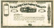 Bay City And East Saginaw Railroad - Stock Certificate