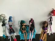 Monster High Doll Lot Of 6 And Furniture Sofa Lounge Chair Throne Chair