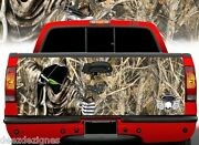 Tailgate Wrap Bow Hunting Grim Reaper In Tall Grass Camo Truck Graphics Bo-009tg
