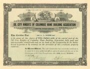 Oil City Knights Of Columbus Home Building Association - Stock Certificate