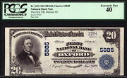 20 1902 Pb The First National Bank Of Oxford, North Carolina Ch 5885 Pcgs 40