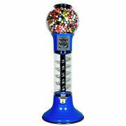 Wiz-kid Spiral Gumball Machine, Blue, Yellow Track Color, 25 Cents Coin Mech