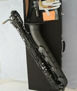 Advanced Baritone Saxophone Matt Black Nickel Finish Low A Sax 2 Neck With Case