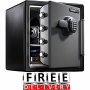 Fireproof Safe Security Water Theft Cash Electronic Documents Sentry Gun Box New