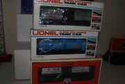 Lionel 36105 Skelly, 38356 Dow And Schx 303 Stauffer Tank Cars