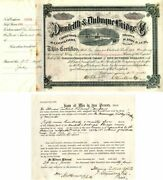 Dunleith And Dubuque Bridge Co. Signed Twice By Stuyvesant Fish - Stock Certific
