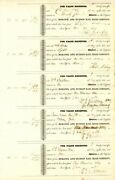 Uncut Sheet Of 5 Mohawk And Hudson Rr Signed By Wm. B. Astor - Stock Certificate