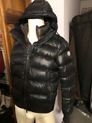 Moncler Marque Menandrsquos Hooded Down Padded Puffer Jacket Coat Navy Blue Sz 5 Xl