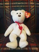 Valentino Beanie Baby 1993 With Errors And Pvc Pellets. Rare Brown Nose.