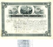 Yellowstone Park Association Signed By Secretary Ludlow Front And Back