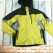 Nwt Outdoor Life Menand039s Coat Jacket Ss M Water Resistant Hooded Gray Green New