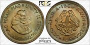 1964 South Africa 1/2 Half Cent Pcgs Ms65 Only 1 Graded Higher Toned Color Dr