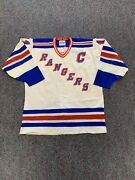 Nhl Vintage Vtg Mark Messier New York Rangers Authentic Jersey 52 Gerry Cosby
