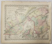 Antique Coltons Atlas Map Hand Colored Lithograph Map Canada Montreal