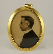 18k Gold And Co. Frame Necklace Pendant Franklin Butler Lord Photograph