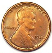 1926-s Lincoln Wheat Cent Penny 1c - Uncirculated Details Unc Ms - Rare Date