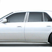 6pc Stainless Steel Pillar Post Covers For 2006-2014 Cadillac Dts