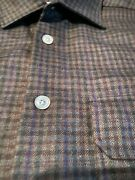 2495 Kiton Men Cashmere Shirt Hand Made In Italy M