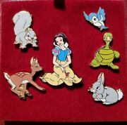 Disney 4924 Wdw Snow White And Forest Friends Boxed Set Of 6 Pins Le 300 Very Rare