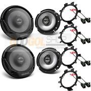 Kenwood - 300 Watts Car Truck Front And Rear Door Speakers W/install Kits 1995-up