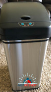 Itouchless Stainless Steel Automatic Odor-absorbing Filter Sensor Trash Bin