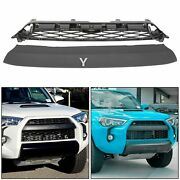 For Toyota 4runner Pro 2014-2019 Front Bumper Mesh Grille + Replacement Cover