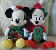 New Mickey And Minnie Mouse Disney Christmas Singing Animated Lights Music 18