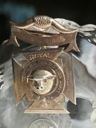 Vintage / Solid 9ct Yellow Gold Medallion / Badge Pendant With Inscriptions 1943
