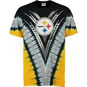 Pittsburgh Steelers V Design Tie Dye Shirt By Liquid Blue - Adult X-large