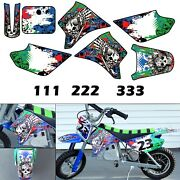 Burly Effects Graphics Kit For Razor Mx350 And Mx400 Dirt Bike Stickers Decals