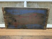 Vintage Pepsi Cola Double Dot Wood Sign 5 Cents Wooden Crate Side Advertising