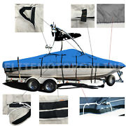 Deluxe V-hull Fishing Runabout Boat W/ski Wakeboard Tower Boat Cover 24and039l
