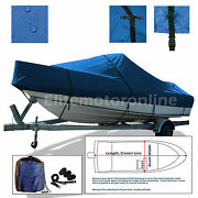 Dusky 17 Open Fisherman Center Console Trailerable Fishing Boat Cover Blue