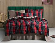 Ufo Home 300 Thread Count 100 Yarn-dyed Cotton Flannel Classical Red Green Blue