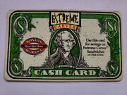 1997 Boston Market Extreme Carver Cash Card Rare One-of-a-kind