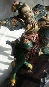 Antique Chinese 19th Century Roof Tile Warrior Riding Horse. Estate Find