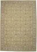 Muted Beige New Antique Reproduction 10x14 Hand Knotted Oriental Area Rug Carpet