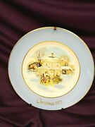 Christmas 1977 Plate Series Carollers In The Snow Avon Exclusively Enoch Wedgwoo